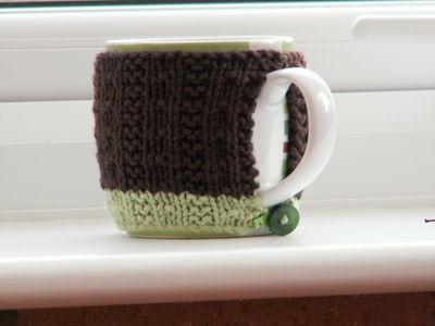 Silver hearts and mug cosy 003