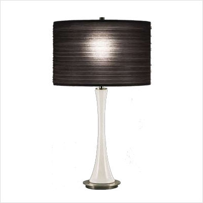Kate+Small+Table+Lamp+in+White+Glass+with+Black+Pleated+Organza+Shade